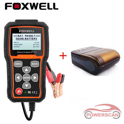 Foxwell BT705 Auto Battery Load Tester & Charging System Analyzer with Printer