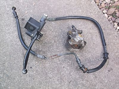 Suzuki AY50 WV scooter front brake caliper with master cylinder lever & hose