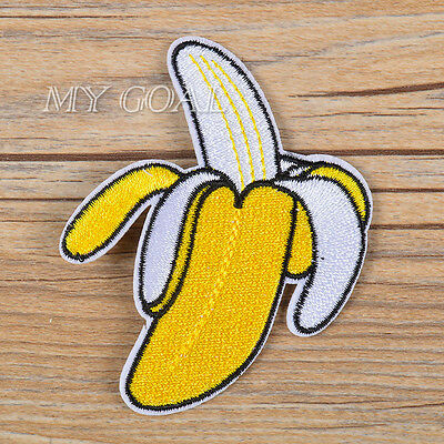 Banana Patch Embroidered Sew Iron On Dress Jacket Badge Fabric Applique Craft