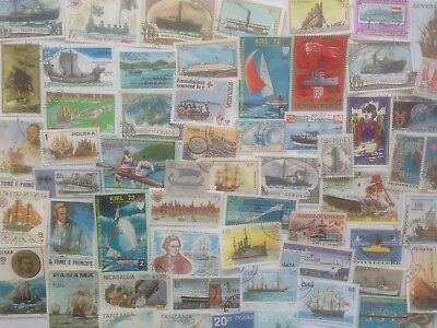 300 Different Ships/Boats on Stamps Collection