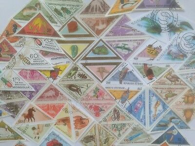 200 Different Triangles Stamp Collection
