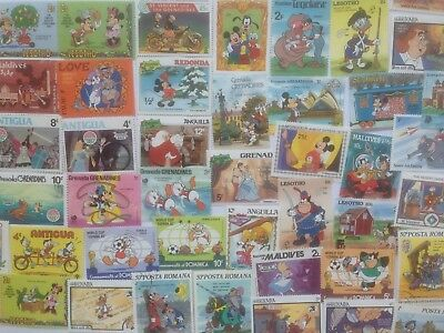 100 Different Walt Disney Stamp Collection