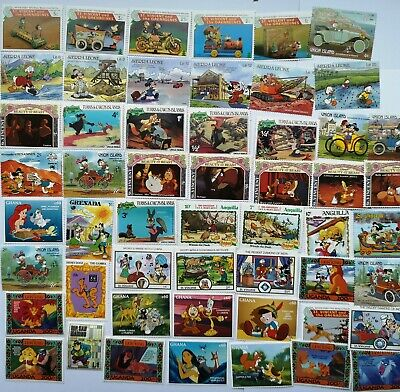 300 Different Walt Disney Stamp Collection
