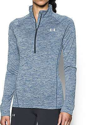 Under Armour Tech Twist Half Zip Ladies Running Top - Blue