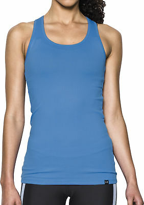Under Armour Tech Victory Ladies Running Vest Tank Top - Blue