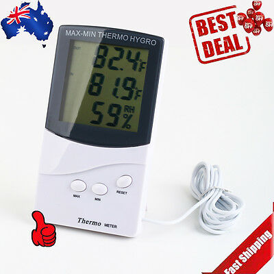 Thermometer Hygrometer Temperature Humidity Meter Digital LCD Indoor/ Outdoor DS
