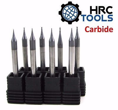 HRC Tools Solid Carbide Micro End Mill 45 HRc TiALN Endmill Endmills 2 Flutes