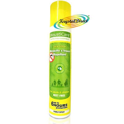 MoustiCare Mosquito & Insect Repellent Aloe Vera Spray FAMILY 125ml Deet Free