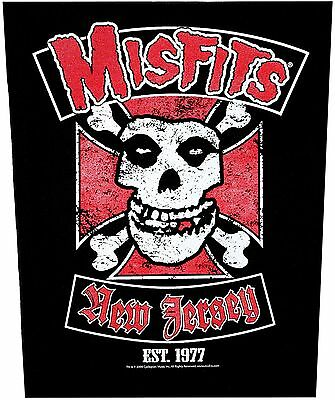 XLG Misfits Biker New Jersey Rock Music Woven Back Jacket Patch Applique