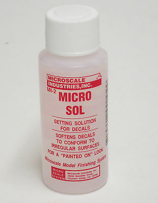 Micro Scale MICRO SOL MICROSOL Decal Setting Solution Craft - Hobby MI-2