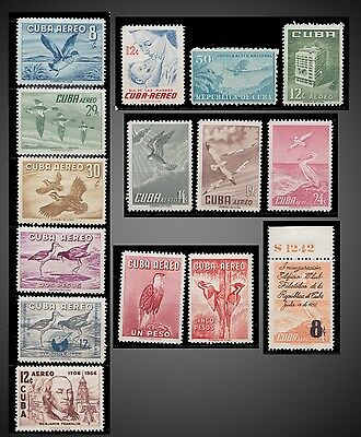 1956 CARIBBEAN AIRMAIL Sc C134-C151 MASONIC TEMPLE BIRDS BENJAMIN FRANKLIN MINT