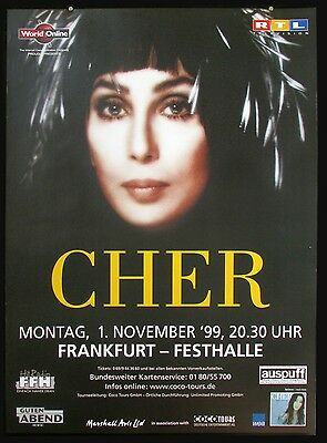 Cher at the Frankfurt Festhalle 1999 Original Vintage Concert Tour Poster