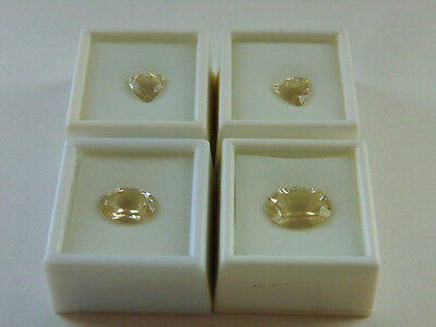 Lot of 4 Yellow Labradorite Loose Gemstones Approx. 16CTW from JTV