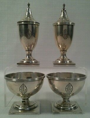 Antique Neoclassical Style Sterling Silver Shakers And Salts 6.3 Troy Ounces