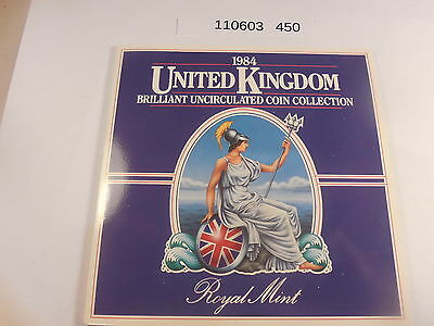 1984 Royal Mint United Kingdom Uncirculated Coin Collection - Original Holder