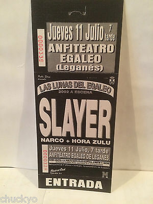 Slayer Concert Ticket Stub 7-11-1985 Spain - Rare