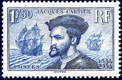 FRANCE JACQUES CARTIER N° 297 NEUF** Cote 190,' €