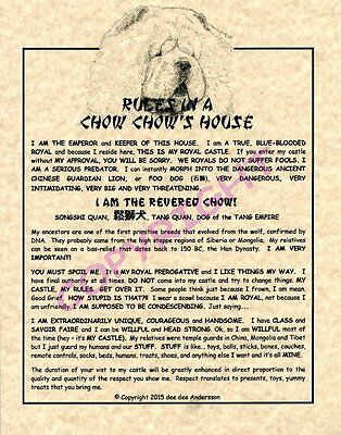 Rules In A Chow Chow's House