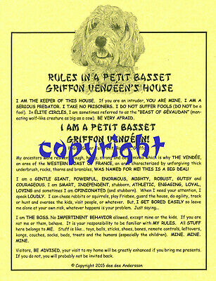 Rules In A Petit Basset Griffon Vendéen's House