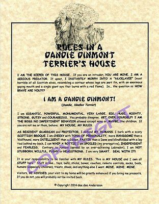 Rules In A Dandie Dinmont Terrier's House