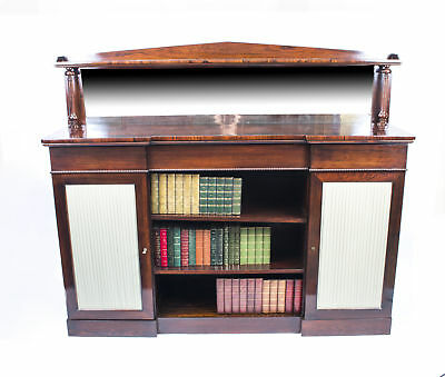 Antique William IV Rosewood Chiffonier Open Bookcase c.1835 • £2,550.00
