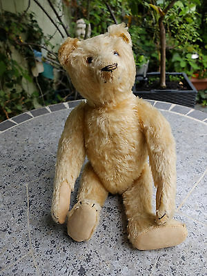 Steiff Teddy - gelber Mohair - orig. Knopf mit Fahne - Anfang 40er Jahre