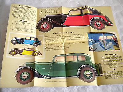 Vintage car sales Brochure French Renault La Primaquatre 1934