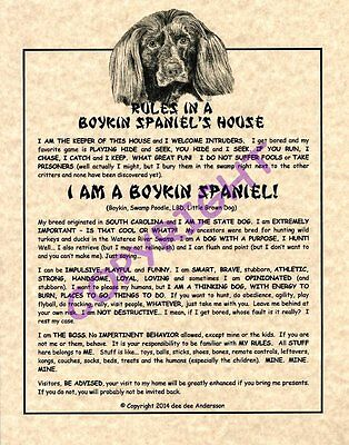 Rules In A Boykin Spaniel's House
