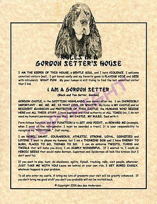 Rules In A Gordon Setter's House