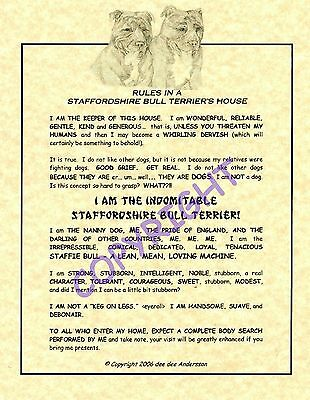 Rules In A Staffordshire Bull Terrier's House