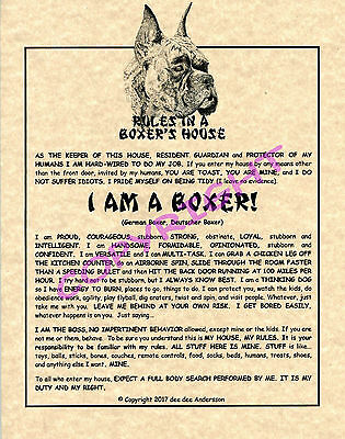 Rules In A Boxer's House