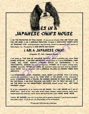 Rules In A Japanese Chins House