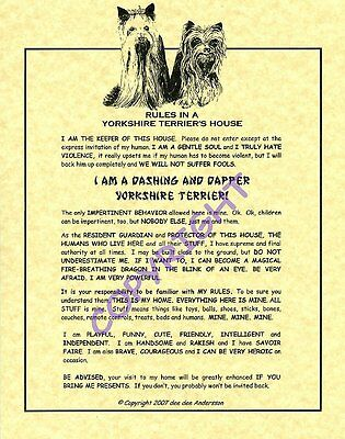 Rules In A Yorkshire Terrier's House