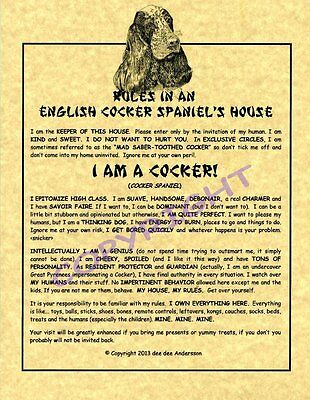 Rules In An English Cocker Spaniel's House