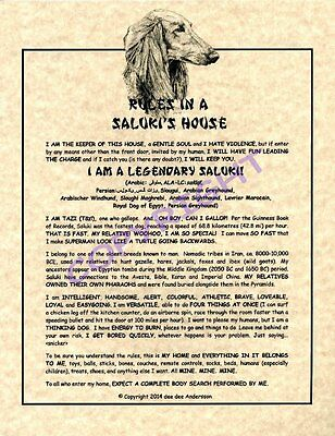 Rules In A Saluki's House