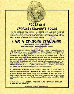 Rules In A Spinone Italiano's House
