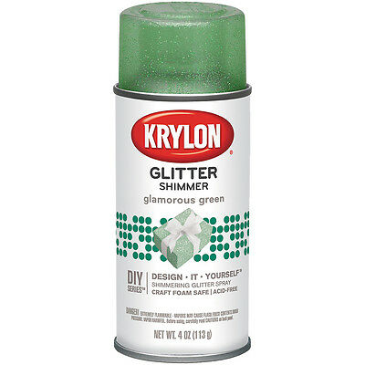 """Glitter Aerosol Spray 4oz-Glamorous Green, Set Of 3"""