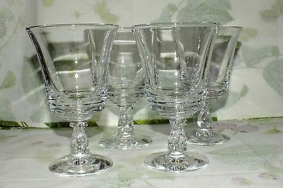 Fostoria Glass Century Clear  Water Goblets Set Of 4    Exc