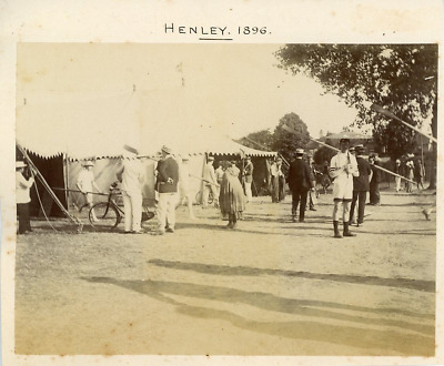 UK, Henley-on-Thames, 1896 Vintage albumen print. Series of photos with the subj