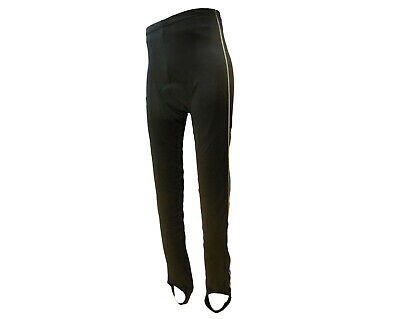 Tights Mens Winter Fleece Padded Reflective Stripe and Pocket Black GS XX-Large