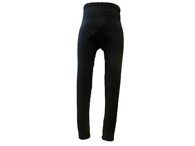 Tights Womens Winter Fleece Padded with Rear Zip Pocket Black GS Large