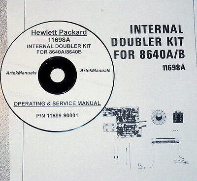 Operating Note for the HP 11698A INTERNAL DOUBLER KIT (for 8640A & 8640B)
