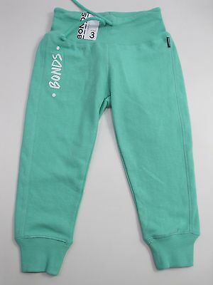 Bonds Kids Girls Slim Trackie Track Pants sizes 3 5 Colour Jade
