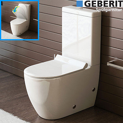 design stand wc mit geberit sp lgarnitur keramik toilette sp lkasten wc set eur 299 90. Black Bedroom Furniture Sets. Home Design Ideas