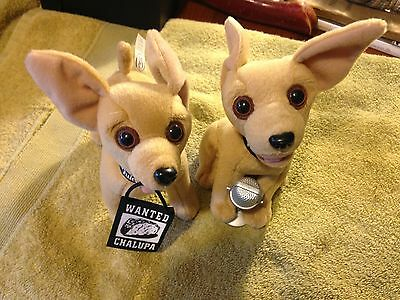 lot of 2 Taco Bell Chihuahua Dog's Plush
