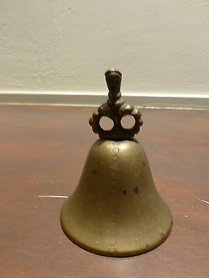 "Nice Vintage asian brass / bronze bell 3"" [Y7-W7-A8]"