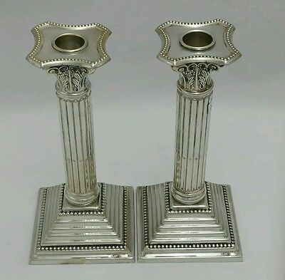 NEW Solid Silver Sterling 925 Pair two 2 Candlesticks Set Candle Holders Shabbat