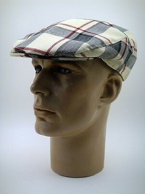 NEW LUXE BRITISH DRIVING CAP 100% WOOL TOP QUALITY Car Goodwood Tartan CLASSIC