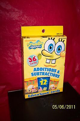 Spongebob Square Pants Educational Cards Mathematics