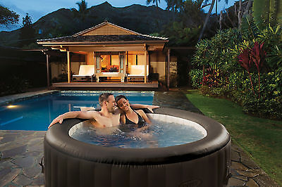 New Intex Pure Jet Massage Inflatable Spa Heated Indoor Outdoor Hot Tub 5 Seat